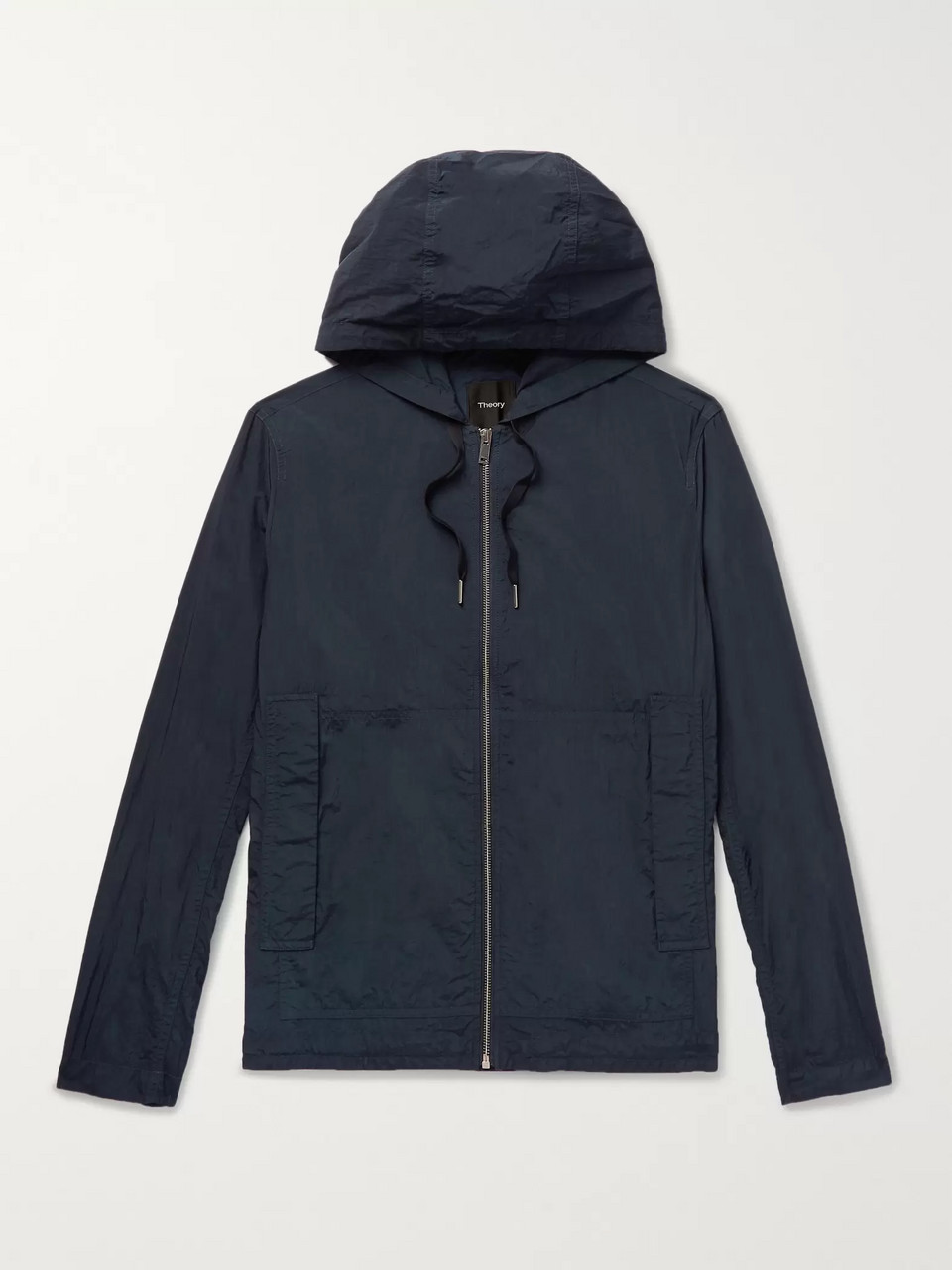 d52edd7d38ed3 Navy Ditmars Garment-Dyed Nylon Hooded Jacket | Theory | MR PORTER