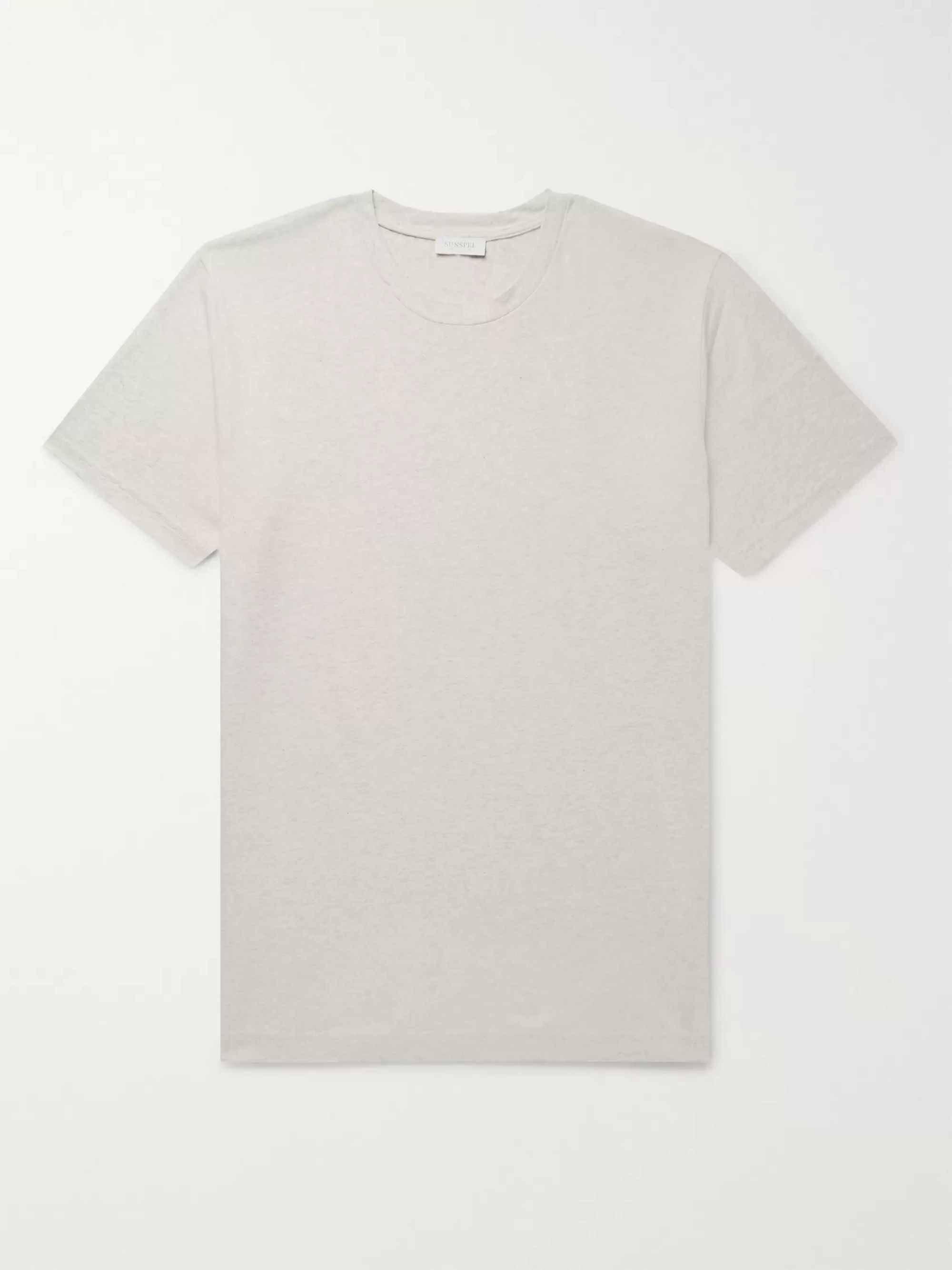 Sunspel Riviera Mélange Cotton-Jersey T-Shirt