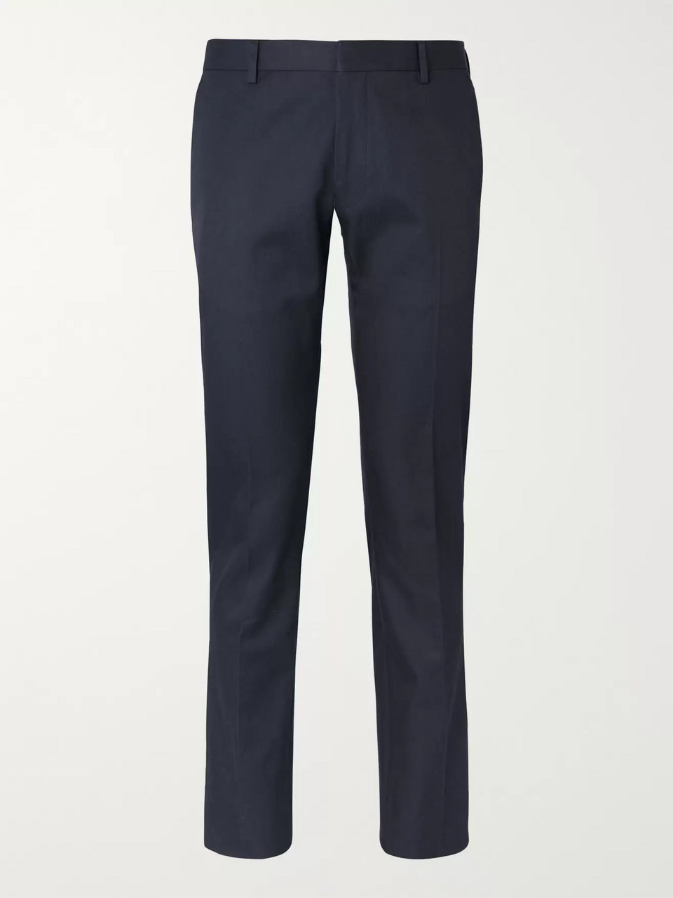 Dries Van Noten Navy Slim-Fit Cotton-Twill Suit Trousers