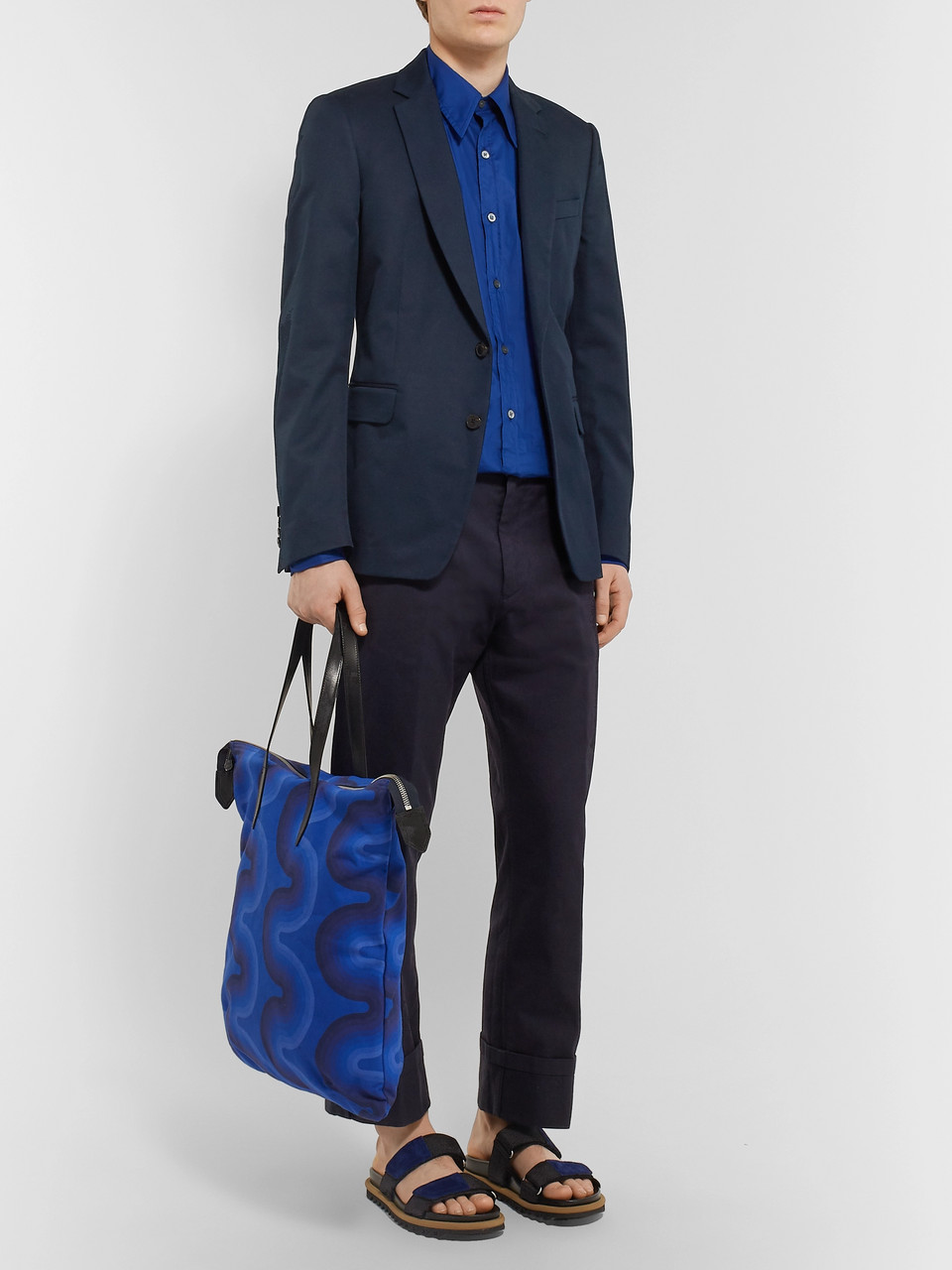 Dries Van Noten Navy Slim-Fit Cotton-Twill Suit Jacket