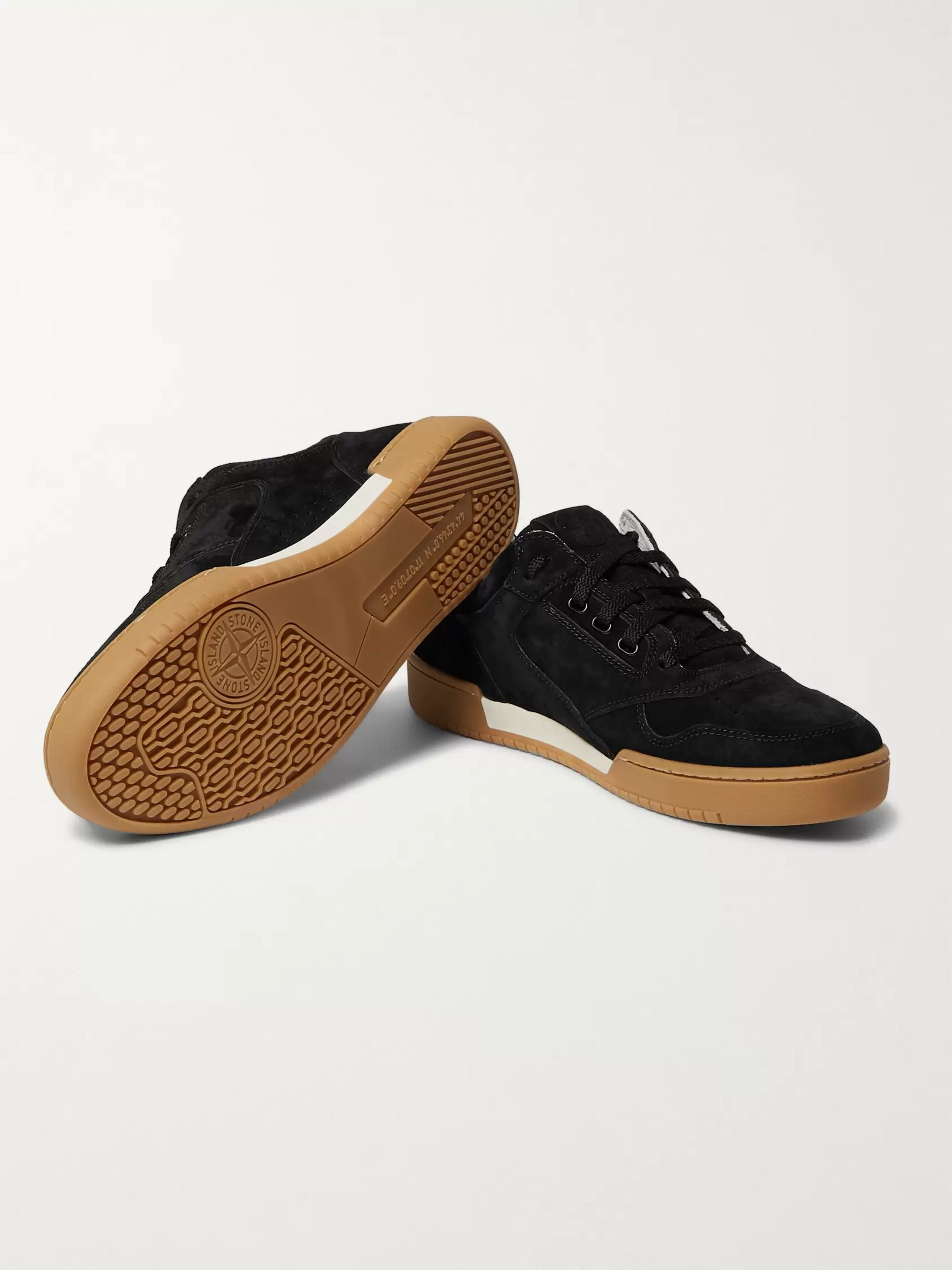 Stone Island Perforated Suede Sneakers