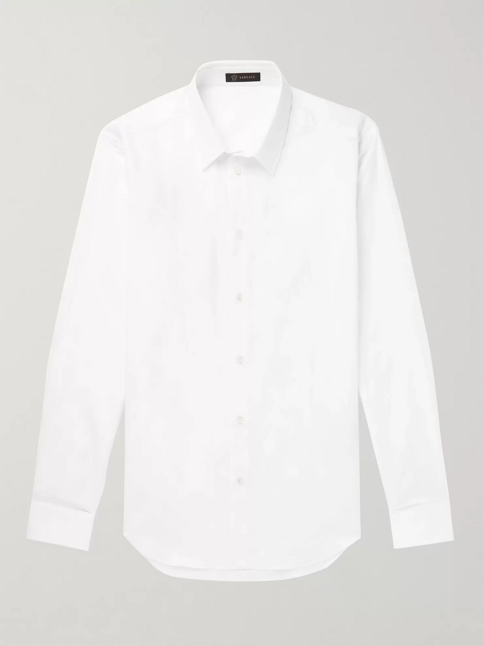 Versace Slim-Fit Cotton-Jacquard Shirt