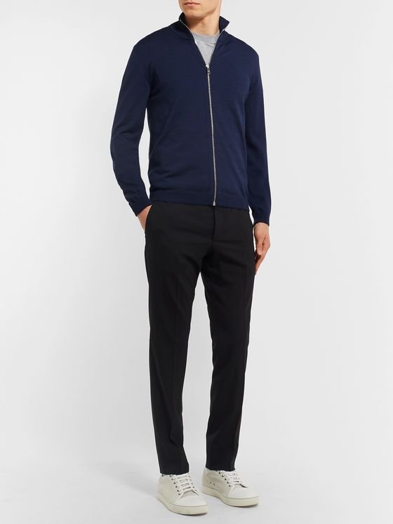 Prada Slim-Fit Virgin Wool Zip-Up Sweater