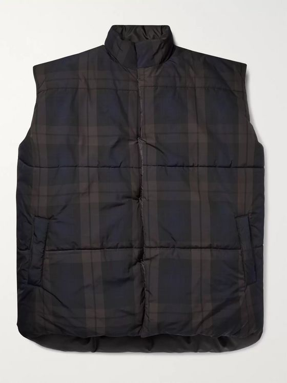 Fear of God Oversized Reversible Checked Nylon Gilet