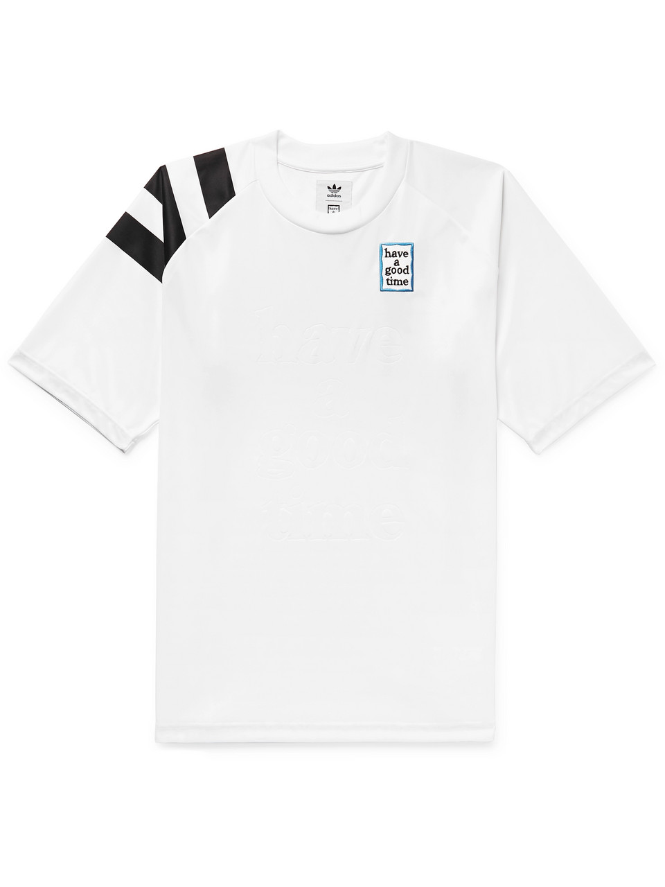 adidas Consortium + Have a Good Time Logo-Embroidered Debossed Tech-Jersey T-Shirt