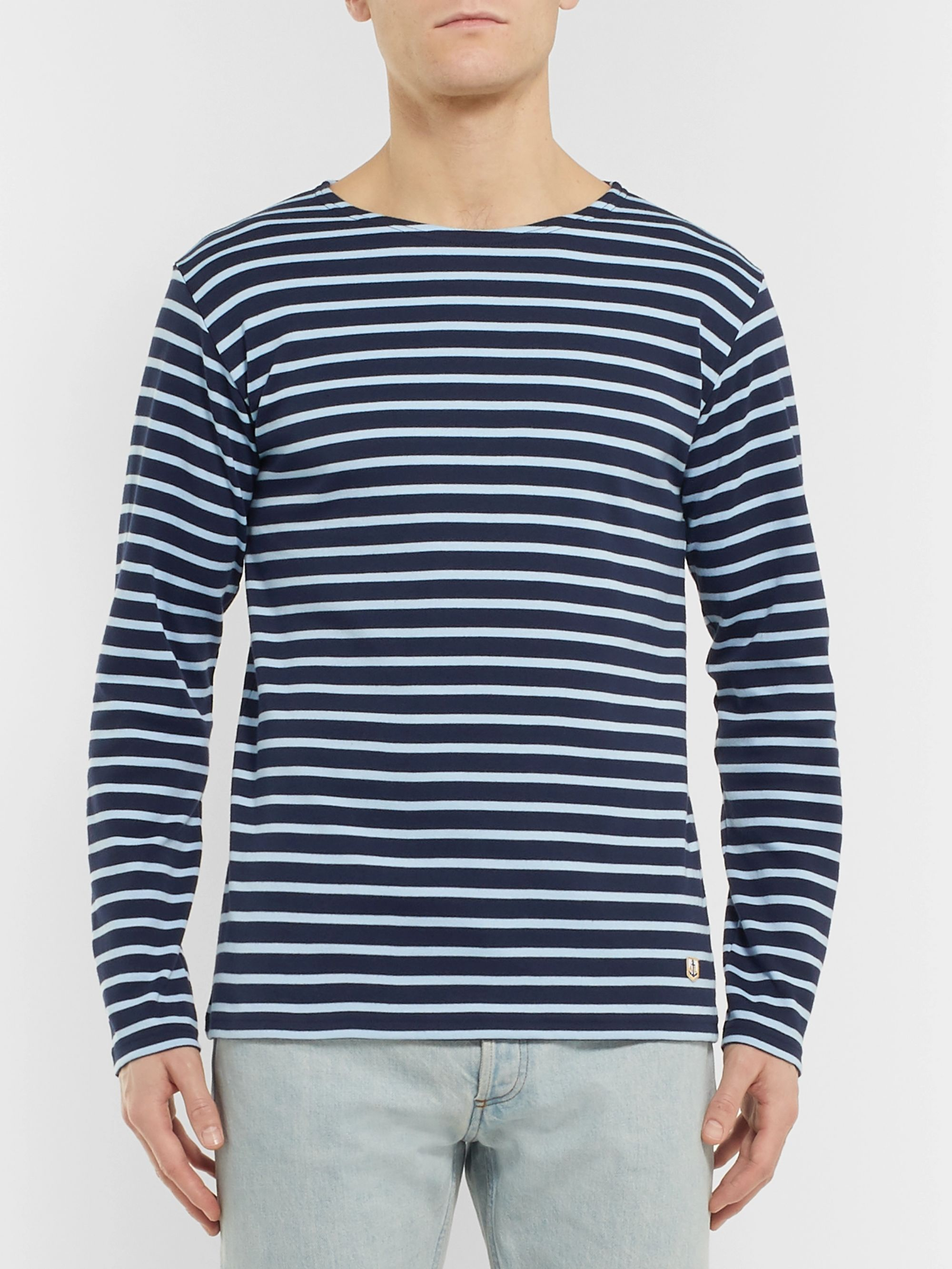 Armor Lux Striped Cotton-Jersey T-Shirt