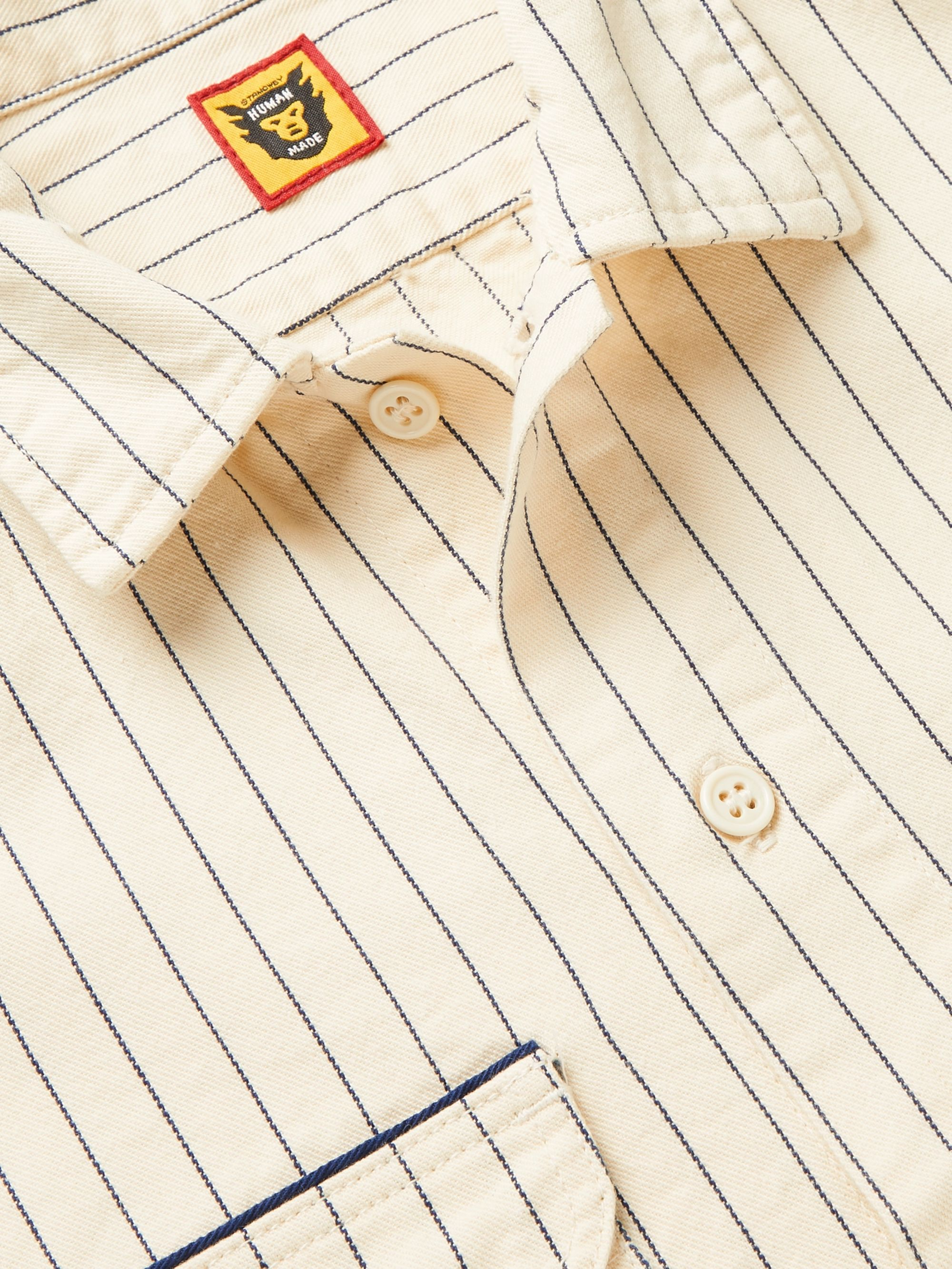 Human Made Striped Cotton-Drill Overshirt