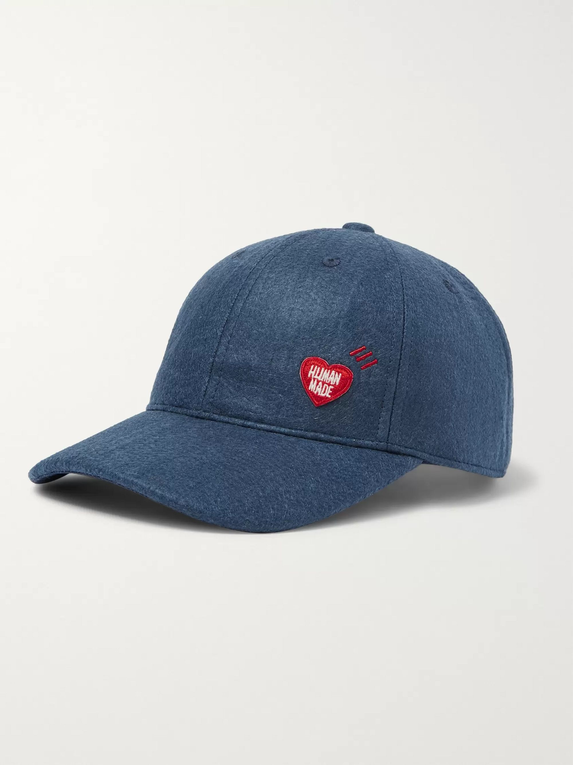 Human Made Logo-Appliquéd Felt Baseball Cap