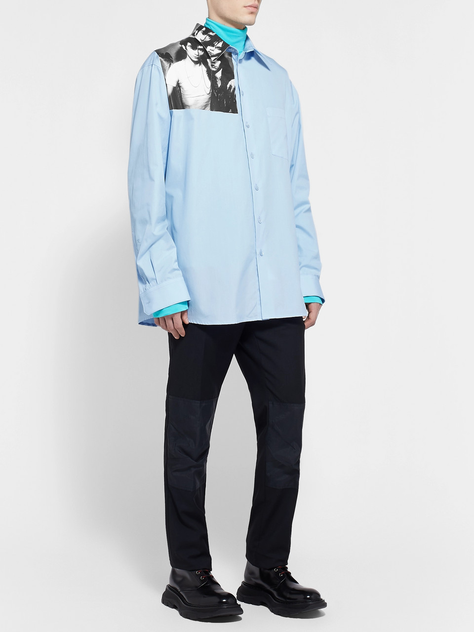 Raf Simons Printed Cotton-Poplin Shirt