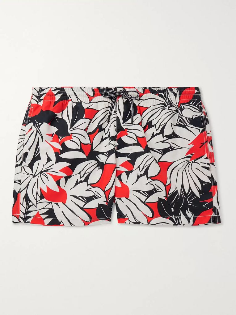 Club Monaco Arlen Mid-Length Printed Swim Shorts