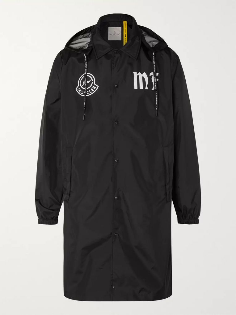 Moncler Genius 7 Moncler Fragment Logo-Print Shell Hooded Jacket