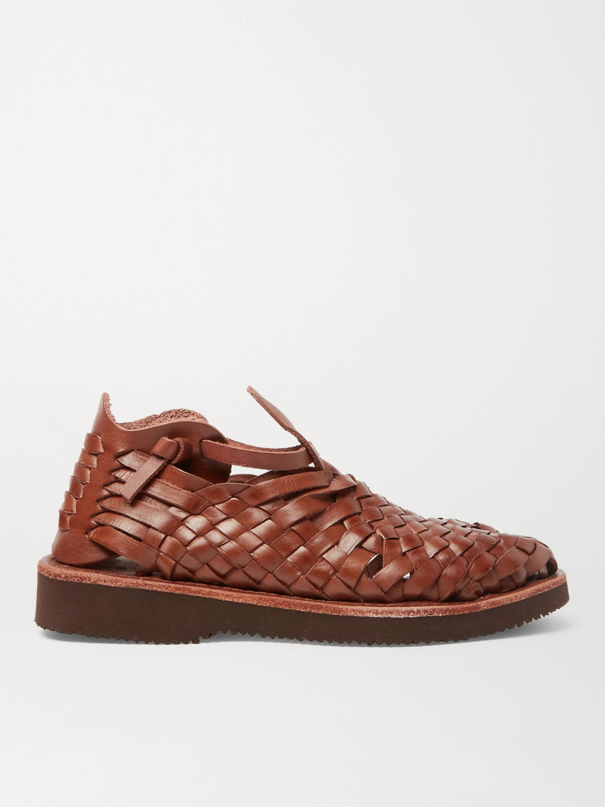 Yuketen Crus Woven Leather Sandals