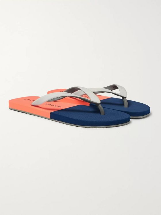 Orlebar Brown Haston Two-Tone Rubber Flip Flops