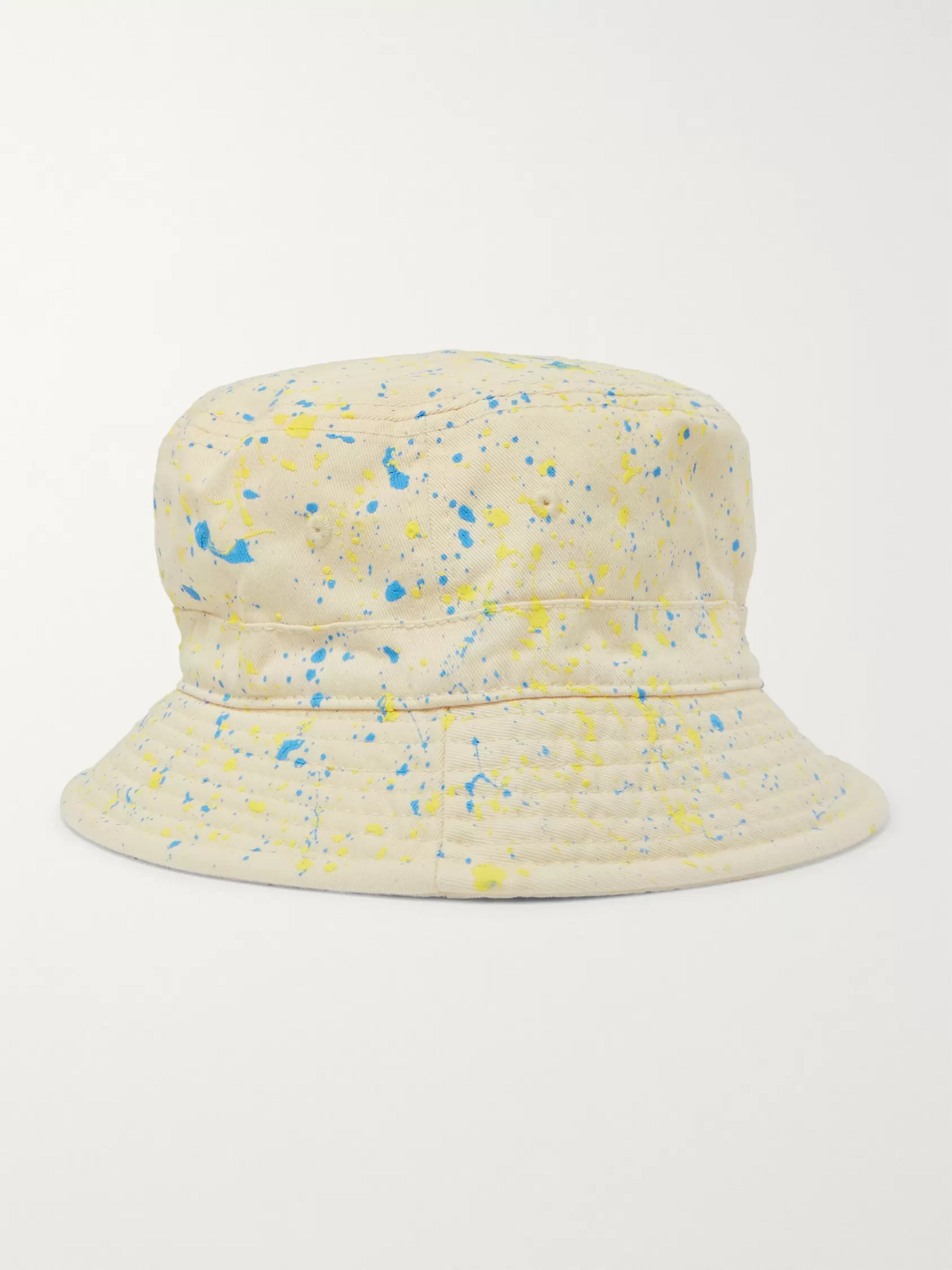 b1a3d28b Paint-Splattered Cotton-Twill Bucket Hat