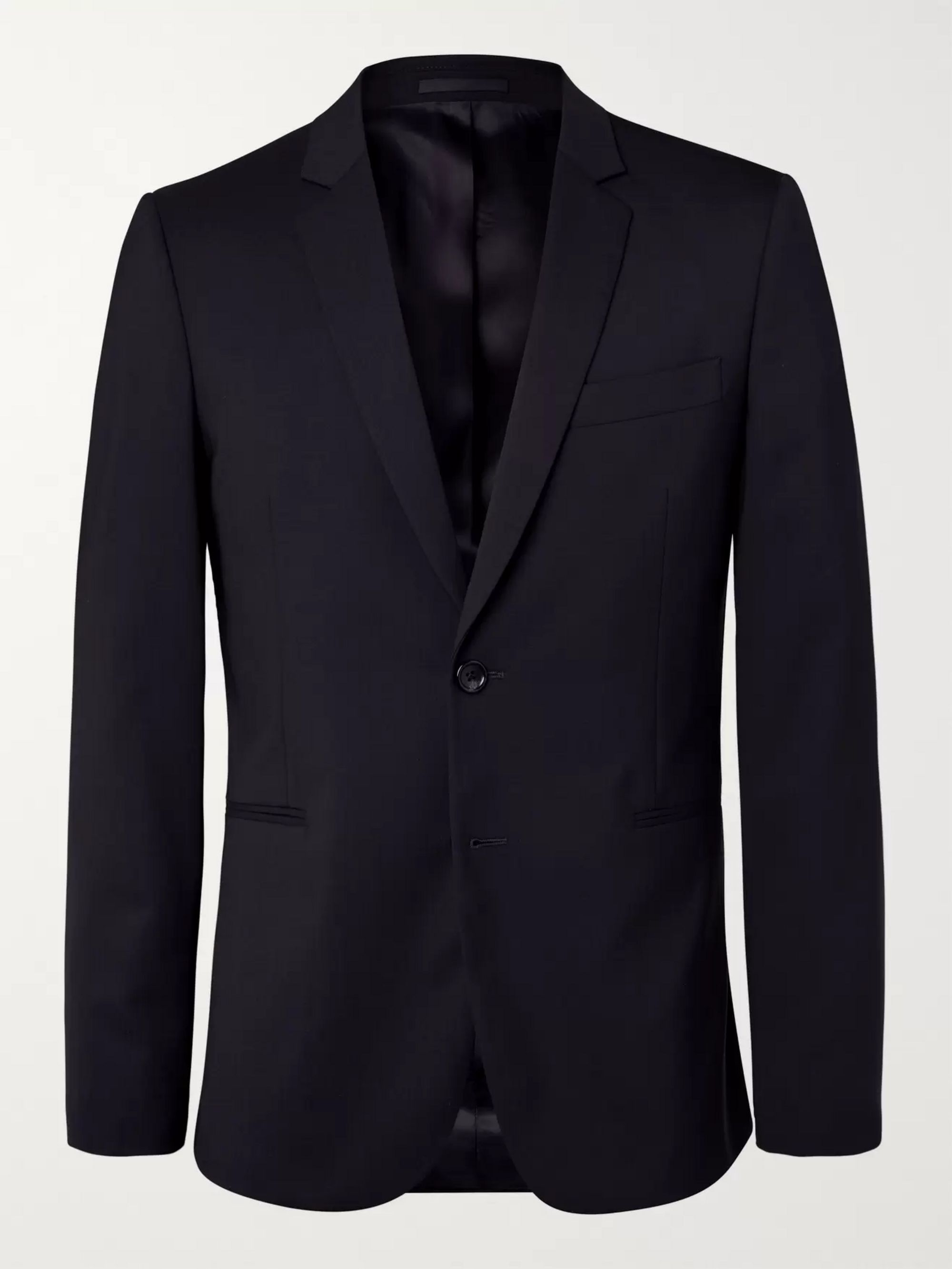 Navy Slim Fit Unstructured Stretch Wool Blazer by Ps Paul Smith