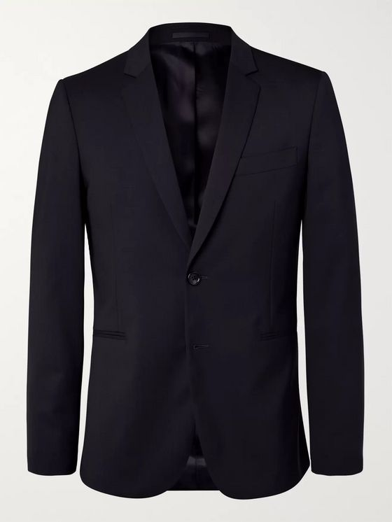 PS Paul Smith Navy Slim-Fit Unstructured Stretch-Wool Blazer