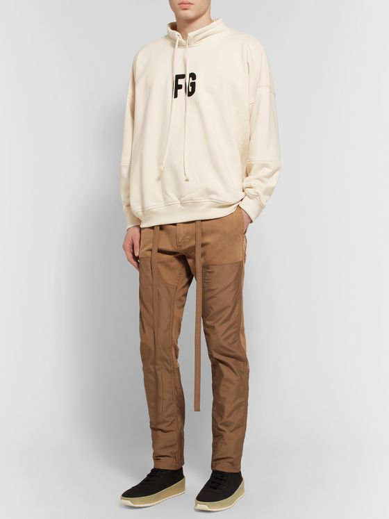 Fear of God Slim-Fit Belted Panelled Cotton-Canvas and Nylon Trousers