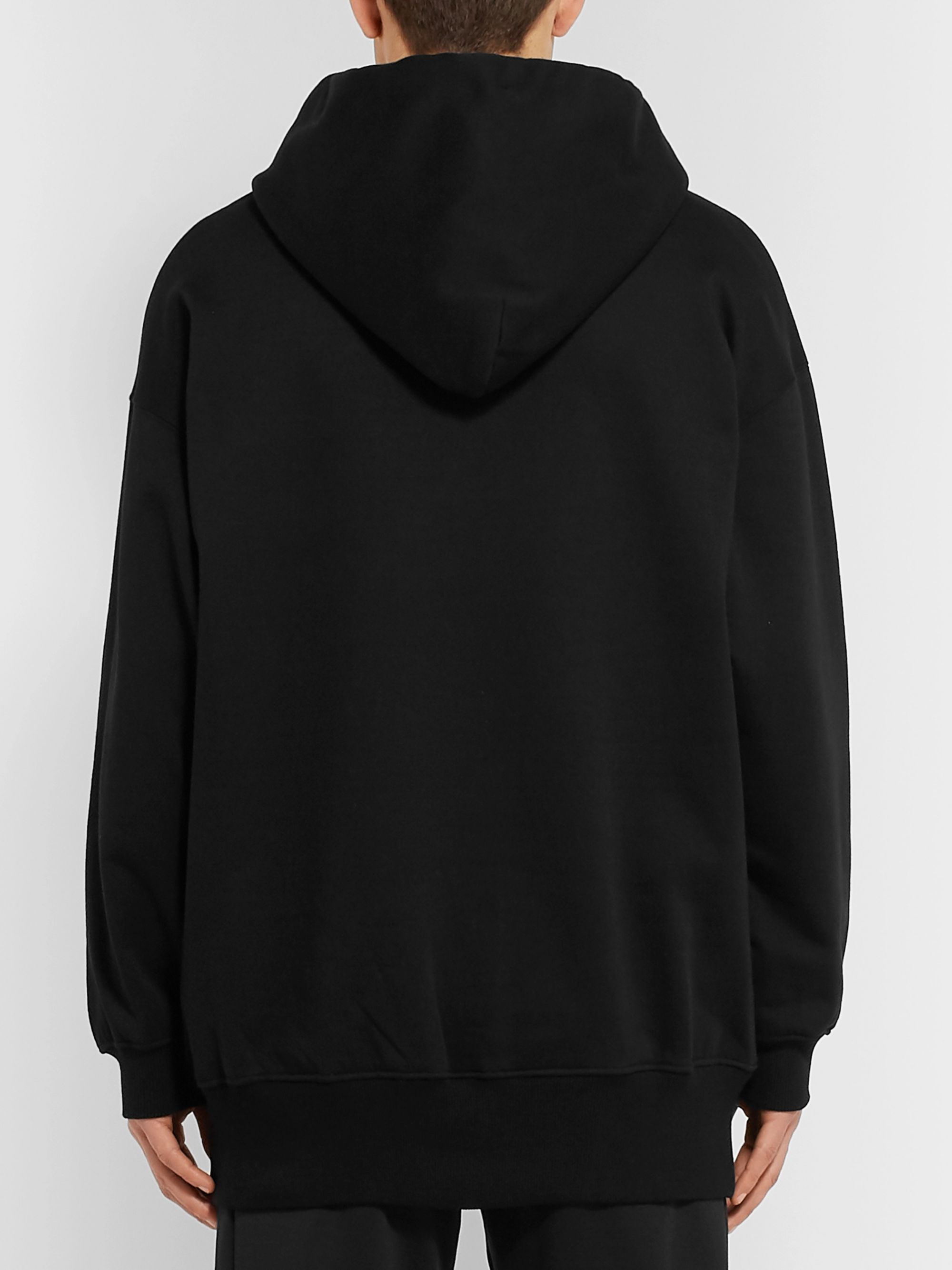 Valentino Oversized Logo-Print Loopback Cotton-Blend Jersey Hoodie