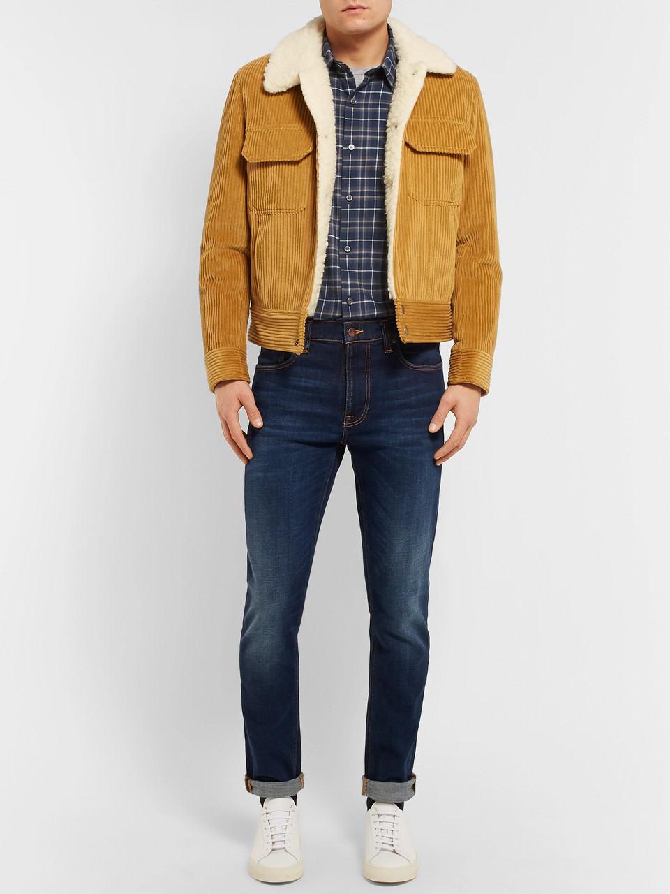 Theory Checked Cotton-Flannel Shirt