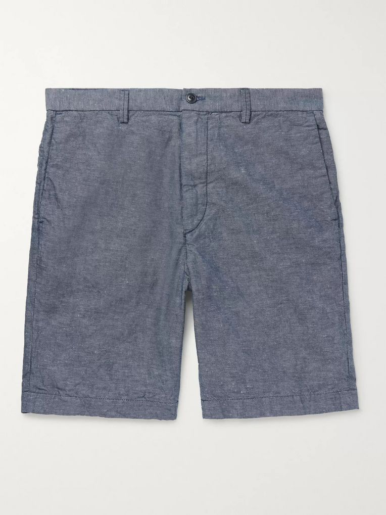 Save Khaki United Cotton and Linen-Blend Chambray Shorts