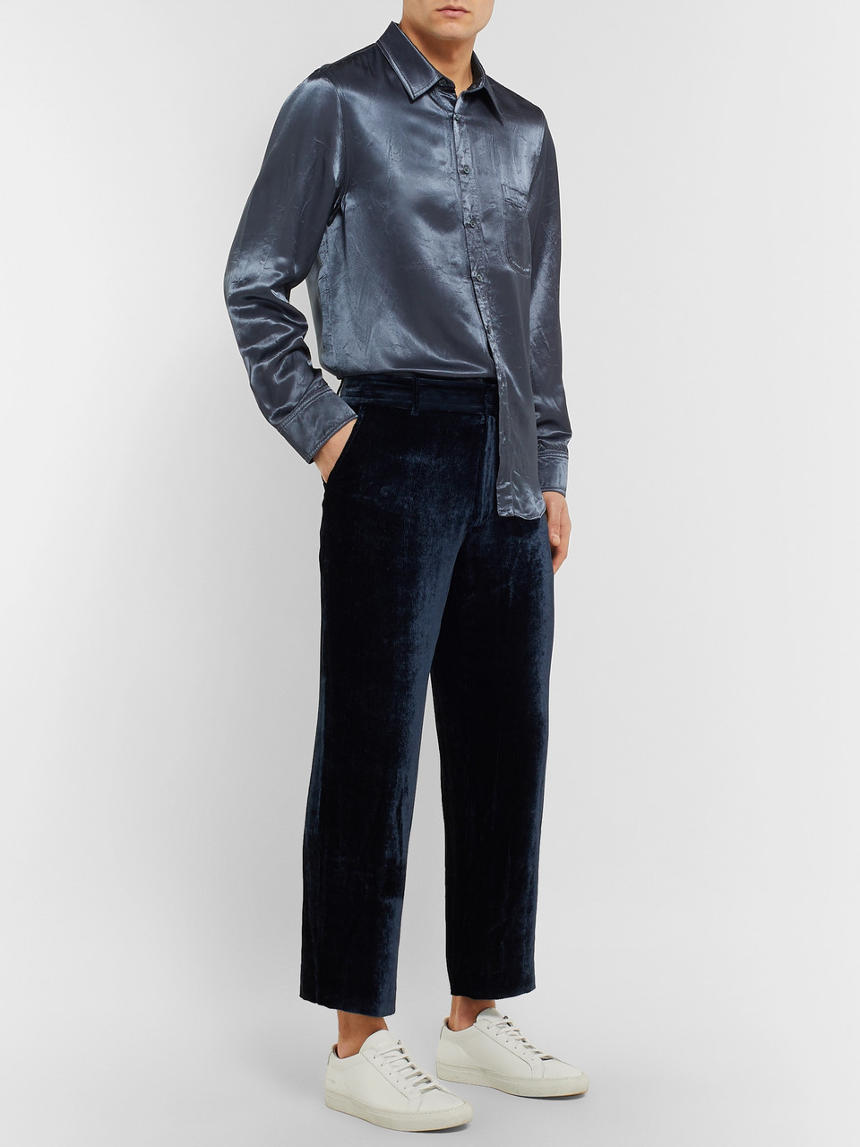 Sies Marjan Sander Washed-Satin Shirt