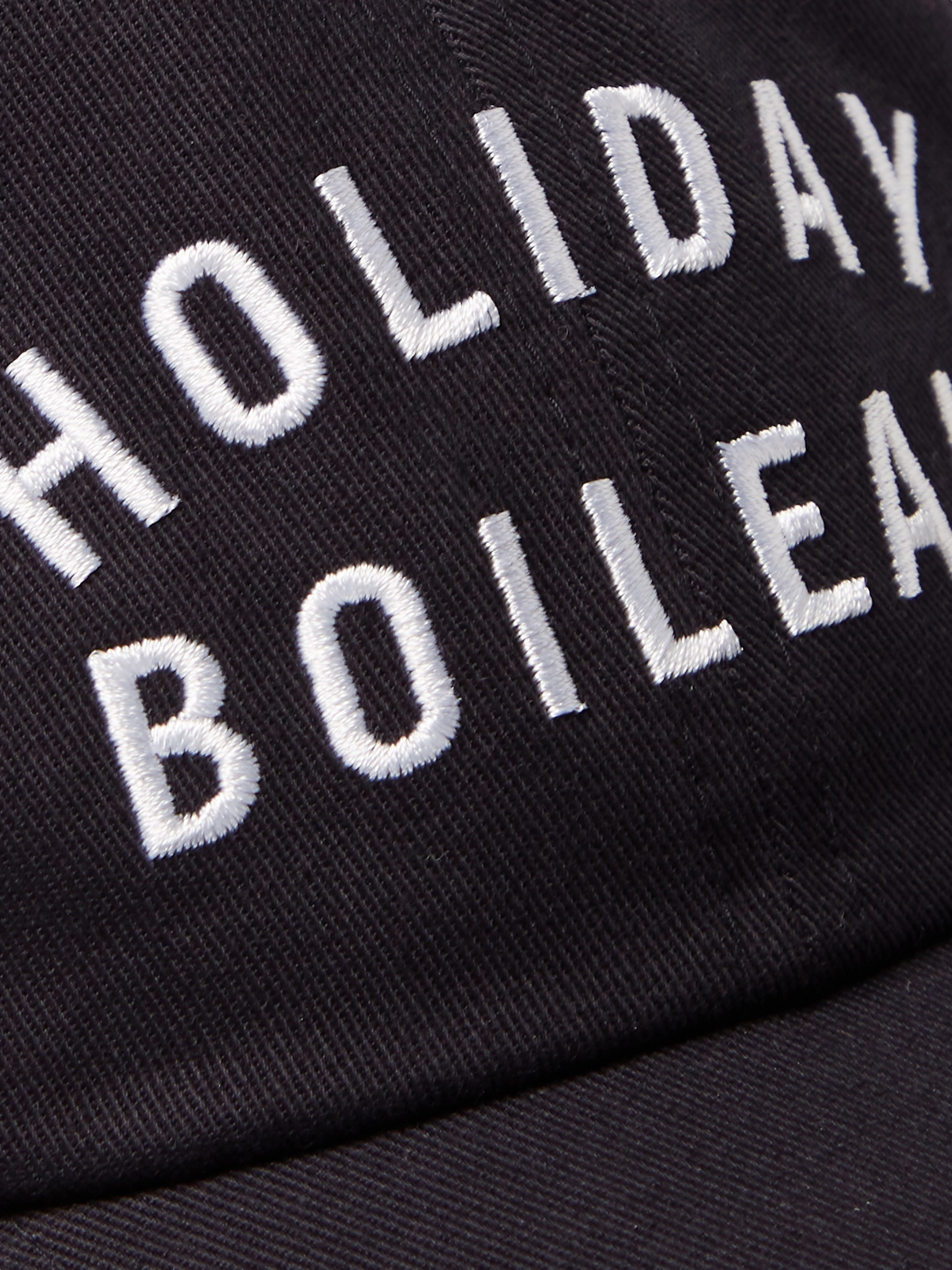 Holiday Boileau Embroidered Cotton-Twill Baseball Cap
