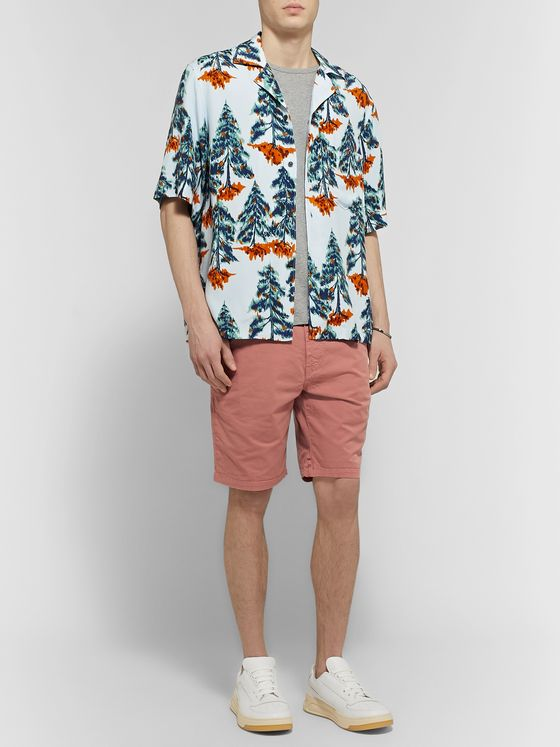 PS Paul Smith Stretch Pima Cotton-Twill Chino Shorts