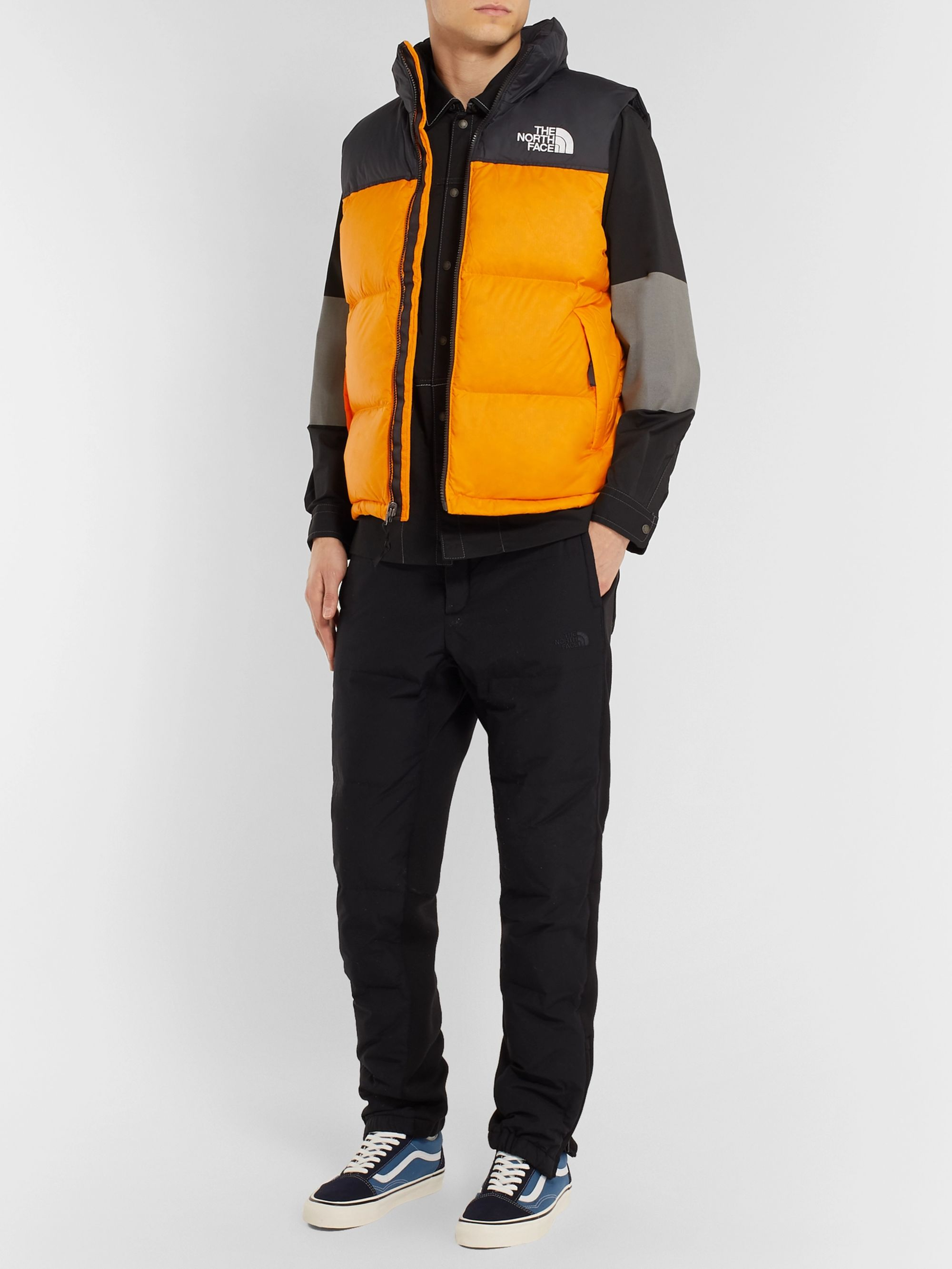 1996 Nuptse Colour Block Quilted Shell Down Gilet