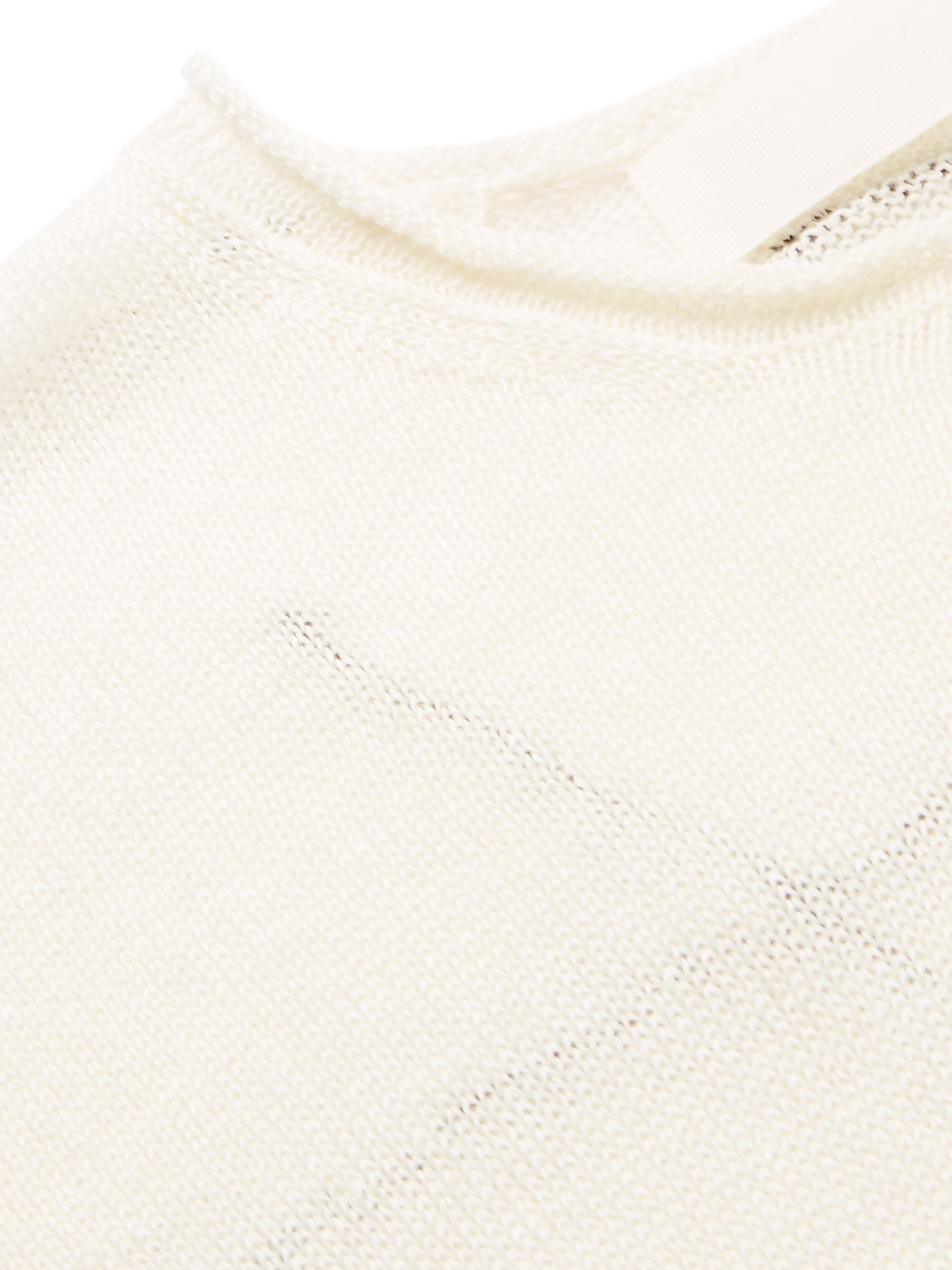 Isabel Benenato Embroidered Linen Sweater