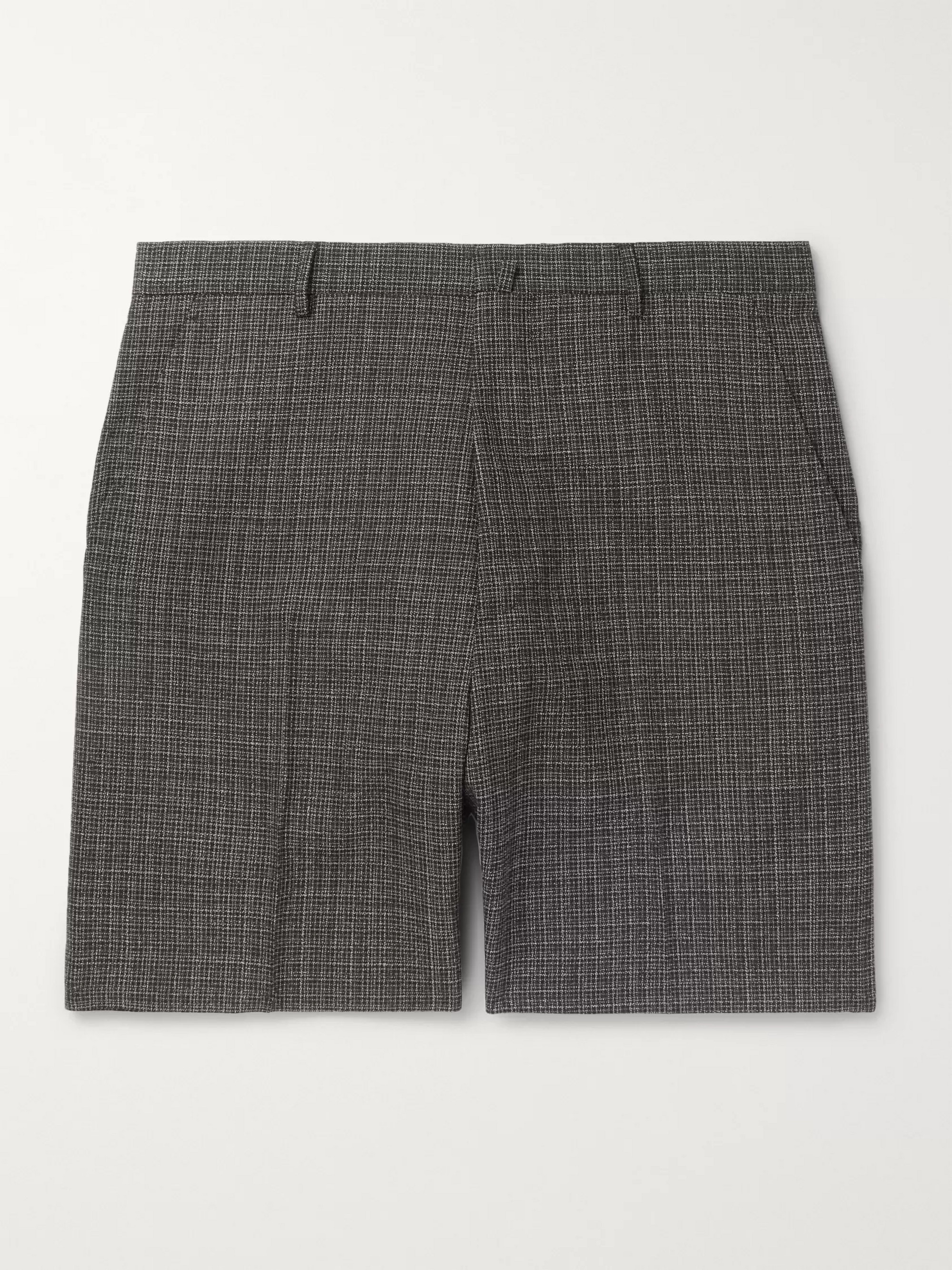 Lanvin Checked Wool Shorts