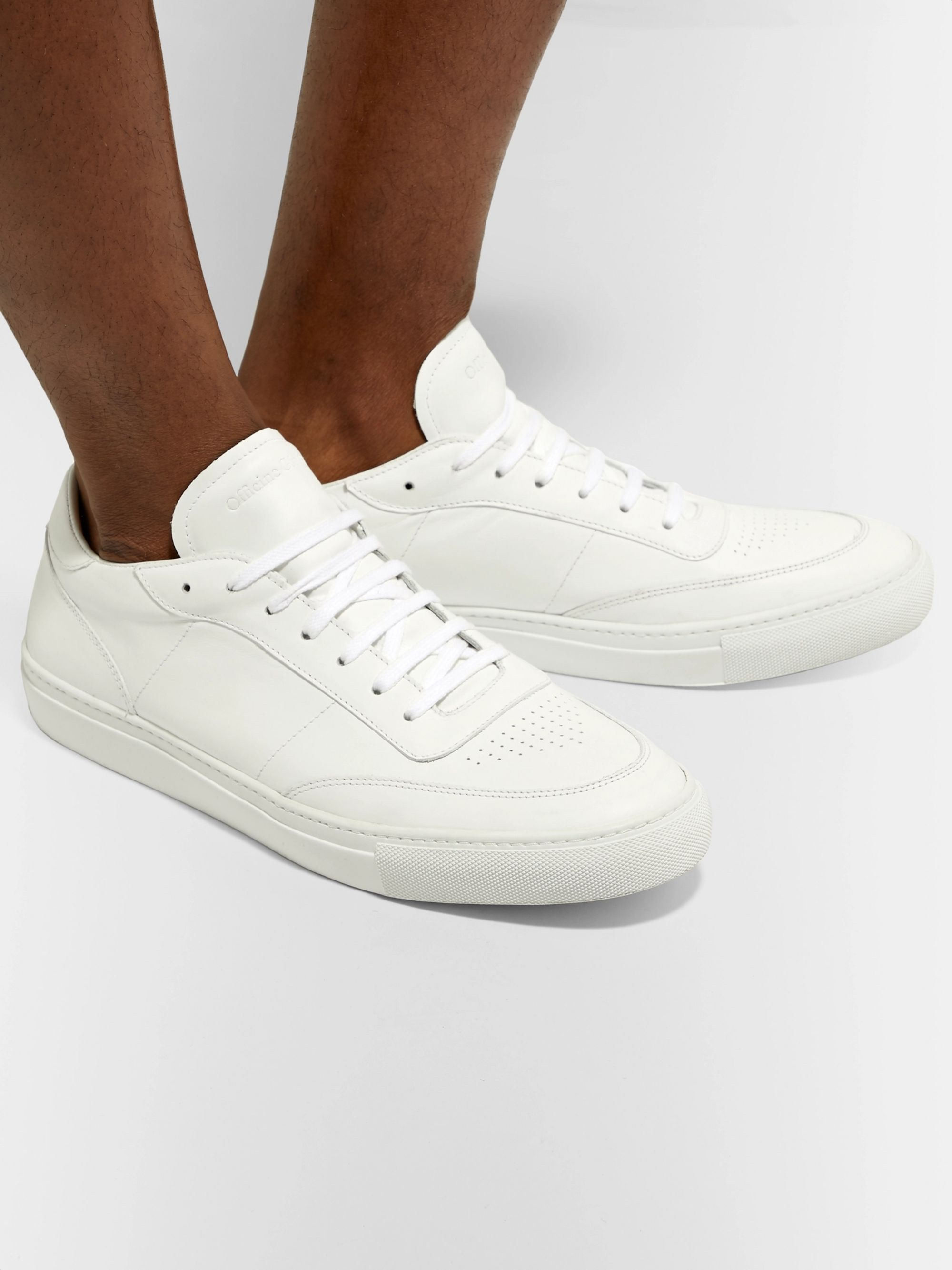 Officine Generale Leather Sneakers