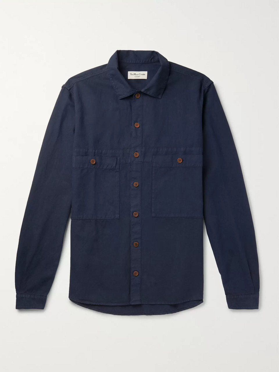 YMC Cotton and Linen-Blend Overshirt