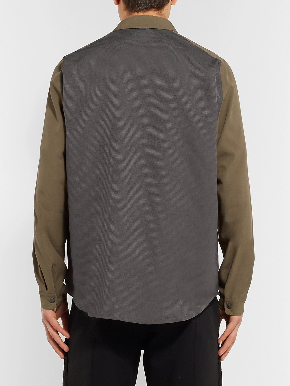 And Wander Reflective-Trimmed Shell and Mesh Shirt