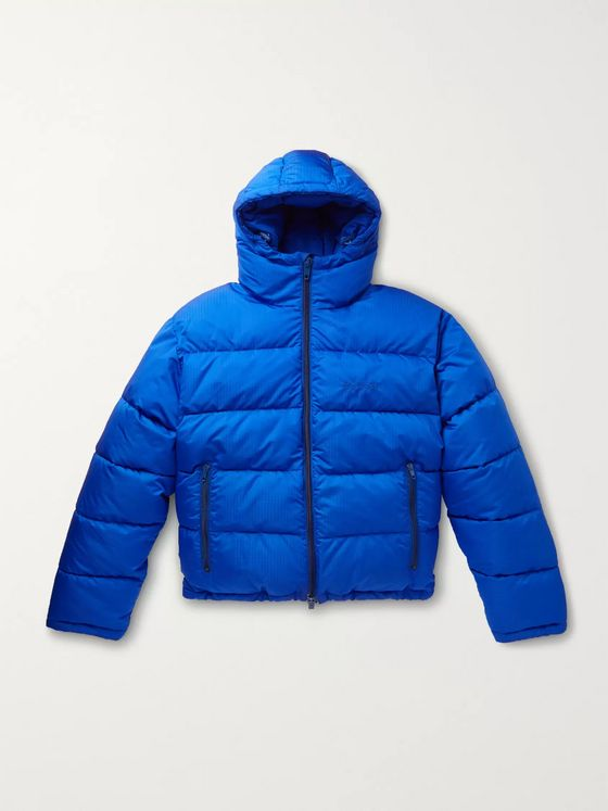 Balenciaga Slim-Fit Quilted Ripstop Hooded Jacket
