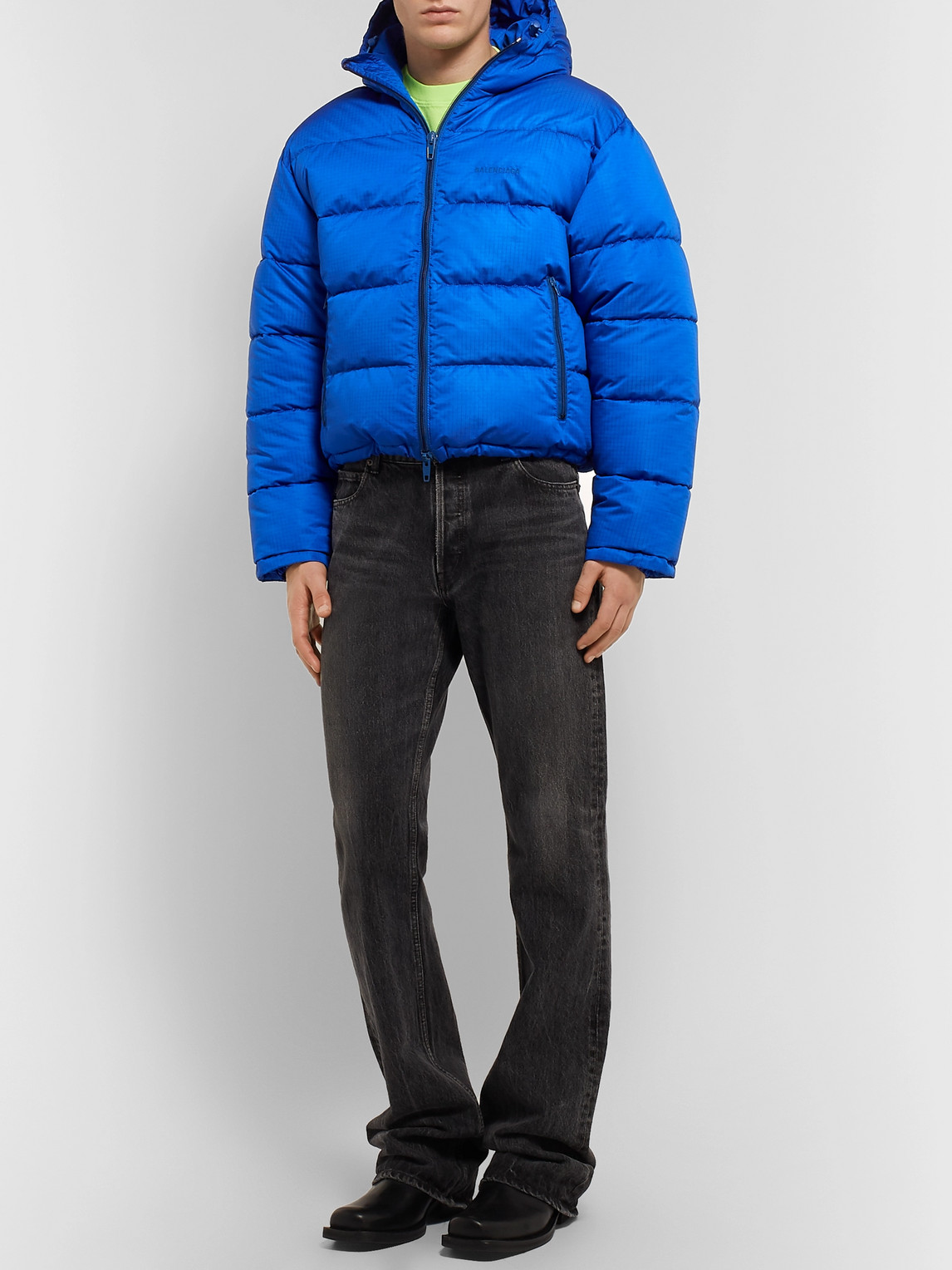Balenciaga Jackets SLIM-FIT QUILTED PADDED RIPSTOP HOODED JACKET