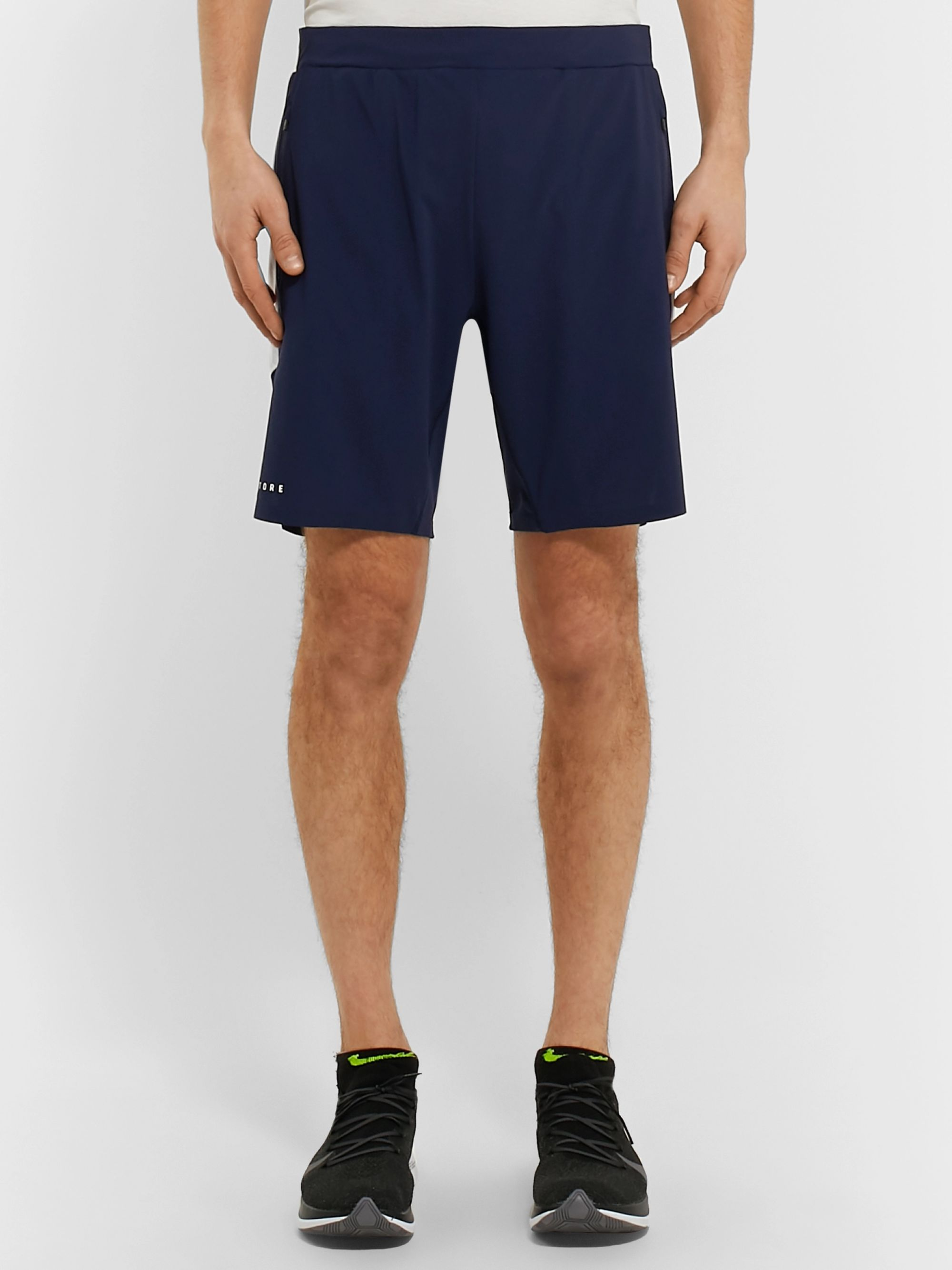 CASTORE Thorpe Mesh-Panelled Stretch-Shell Shorts