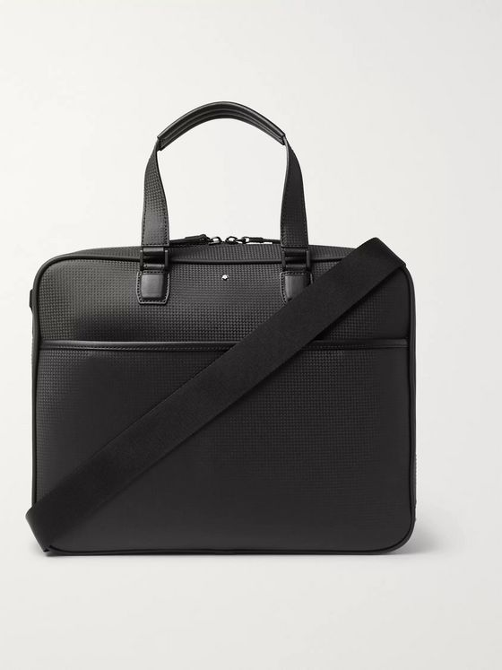 Montblanc Textured-Leather Briefcase