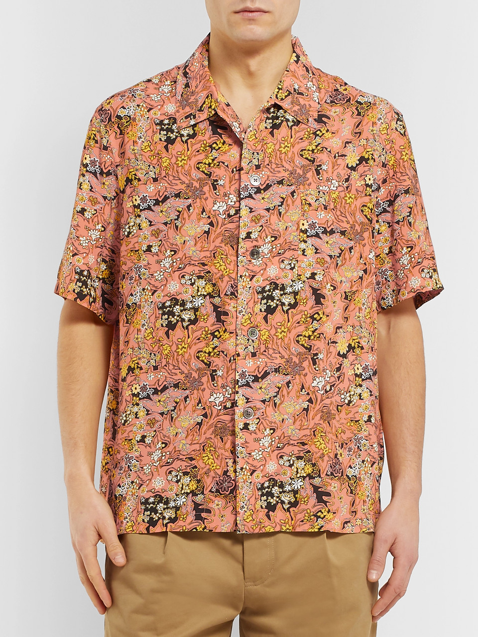 Our Legacy Camp-Collar Printed Voile Shirt