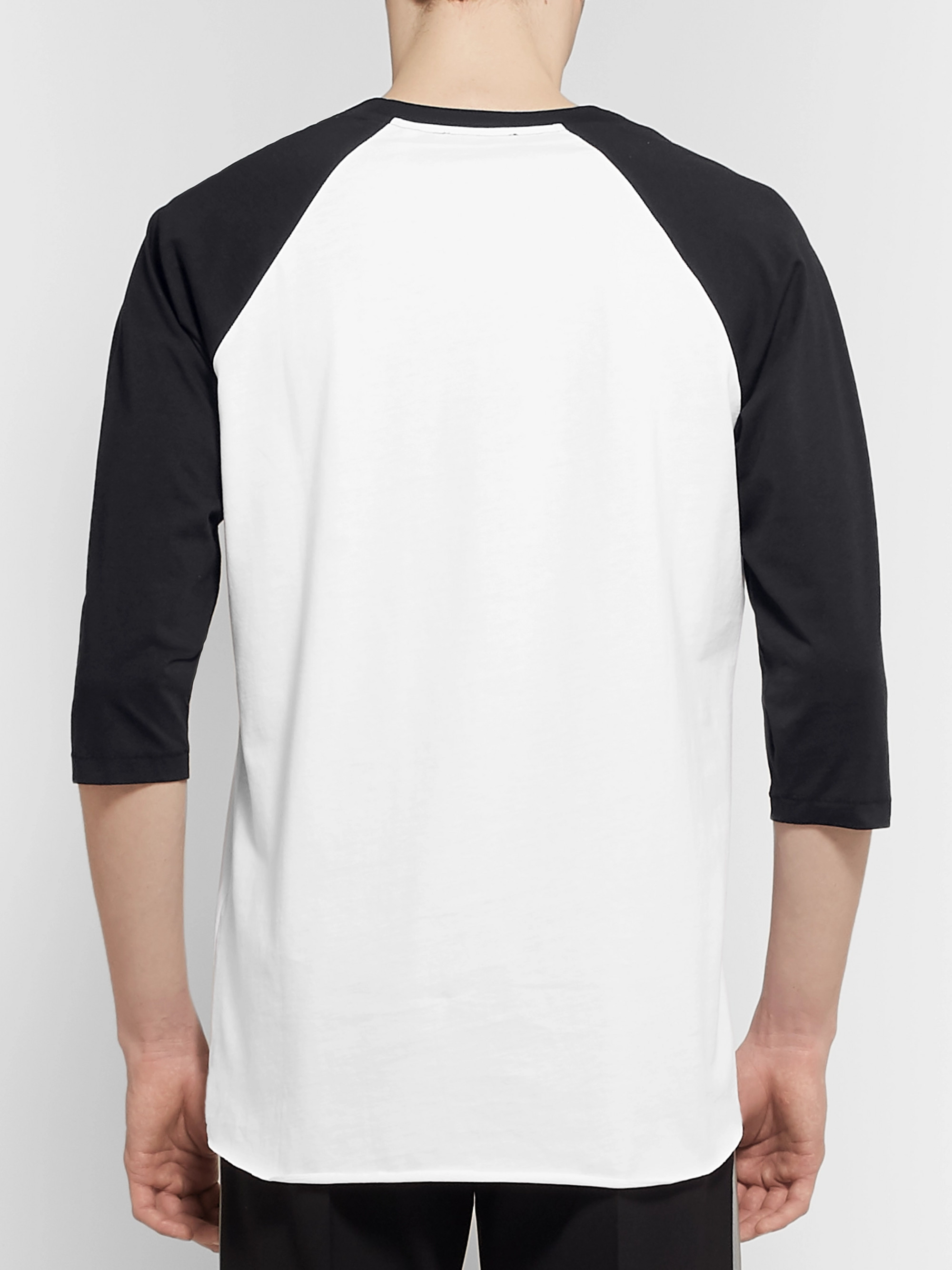 Helmut Lang Pigeon Logo-Print Colour-Block Cotton-Jersey T-Shirt