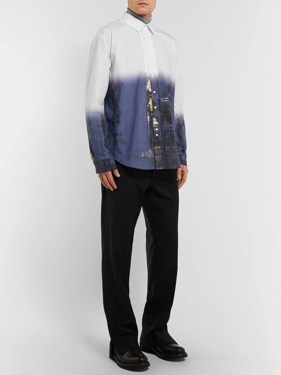 Isabel Benenato Printed Cotton Shirt
