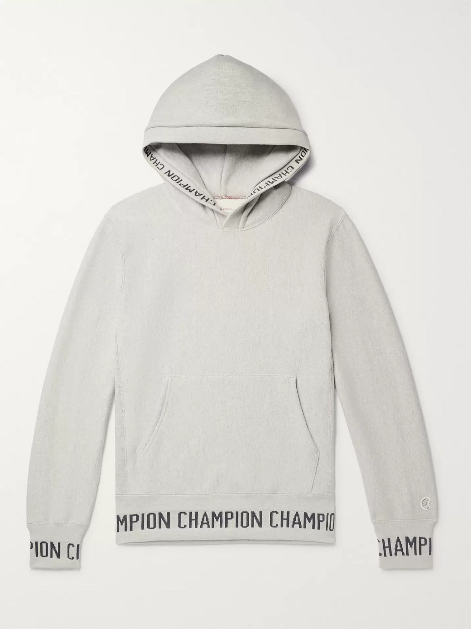 Todd Snyder + Champion Logo-Jacquard Loopback Cotton-Jersey Hoodie