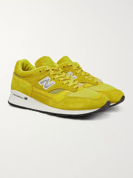 Pop Trading Company + New Balance M1500 Suede and Mesh Sneakers