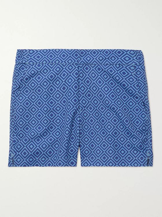Frescobol Carioca Slim-Fit Mid-Length Printed Swim Shorts