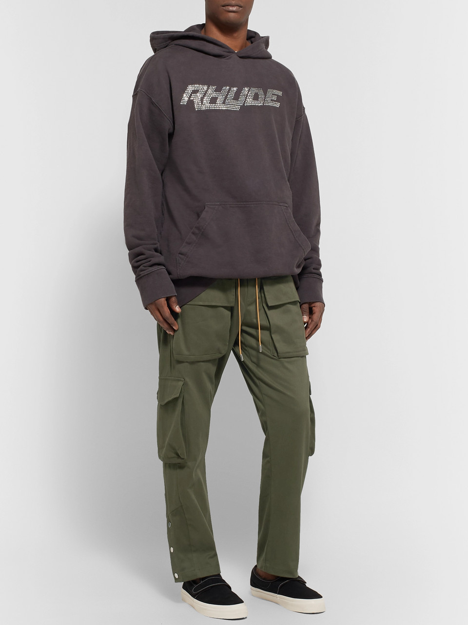 Rhude Rifle Slim-Fit Cotton Drawstring Cargo Trousers