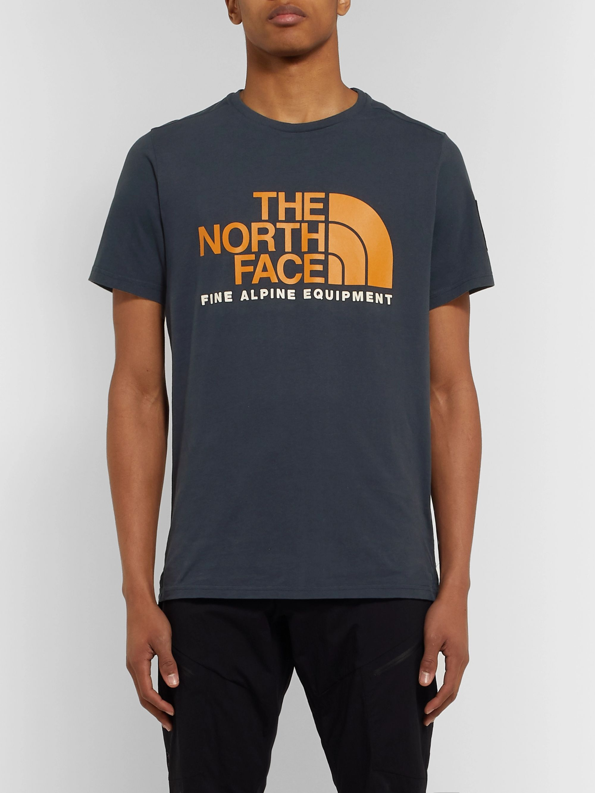 The North Face Fine Alpine Logo-Print Cotton-Jersey T-Shirt