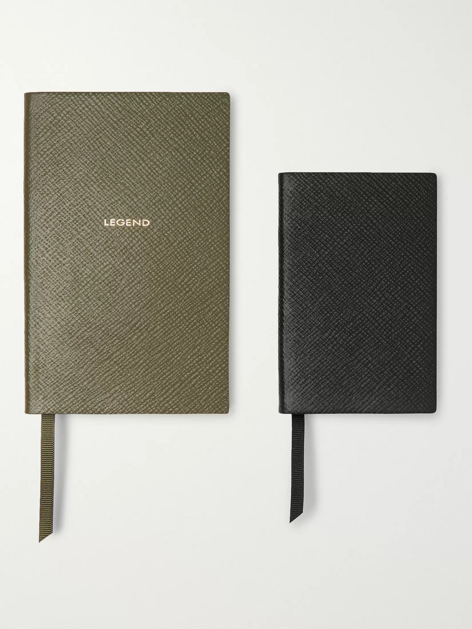 Smythson Panama Cross-Grain Leather Notebook Set