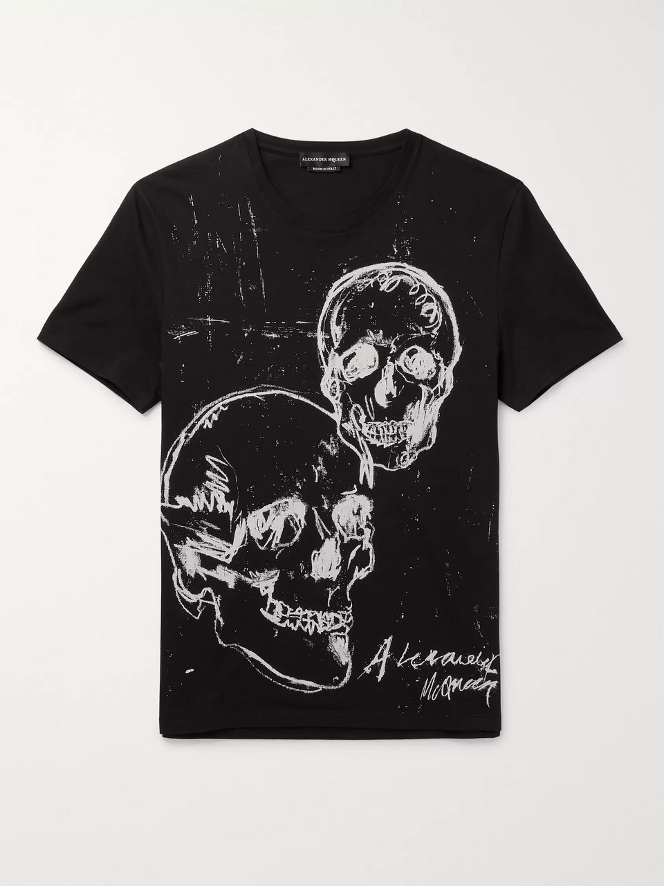 Alexander McQueen Slim-Fit Printed Cotton-Jersey T-Shirt