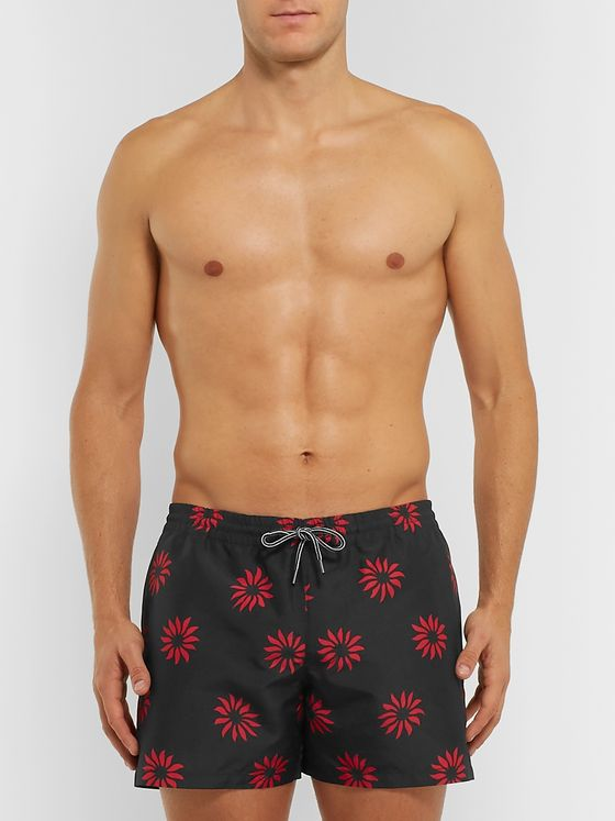Club Monaco Mid-Length Printed Swim Shorts