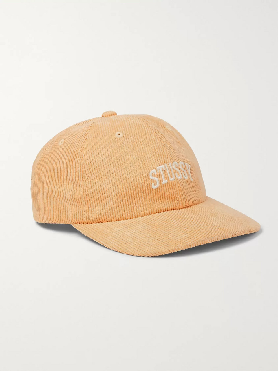 Stüssy Logo-Embroidered Corduroy Baseball Cap