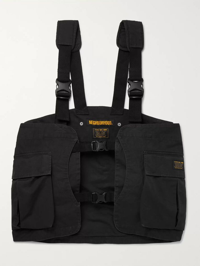 Neighborhood Cotton-Ripstop Cargo Vest